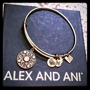 "Alex & Ani ""wings of change"" bronze/gold bracelet"
